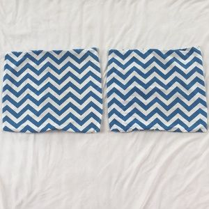 (2) THROW PILLOW COVERS